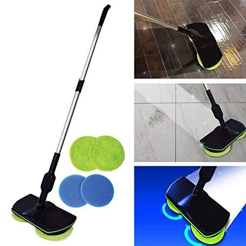 Electric Mop Spinning Bodenreiniger Vacuum Teppich Fliesenfeger für alle Oberflächen, Wet Mop Boden Polierer -