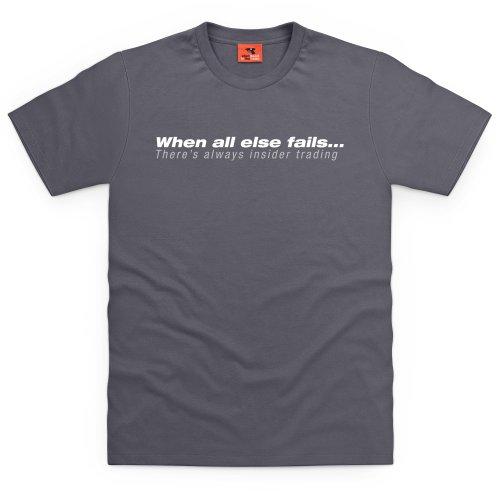 Square Mile Insider Trading T-Shirt, Herren Anthrazit