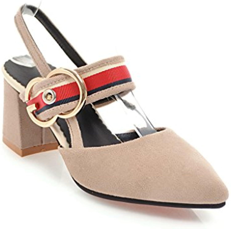 El alto-talón con la punta de la audaz y versátil de tamaño de paquete, sandalias femeninas, blanco 43