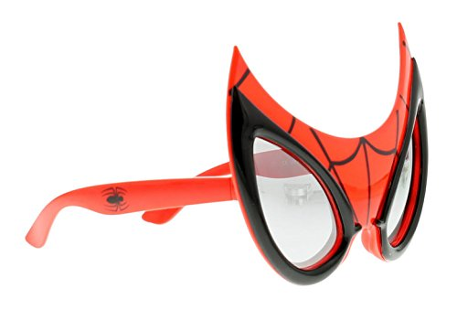 Spiderman Novelty Sunglasses Sunglasses Red/Black - Red/Black - UK SIZES 1-1