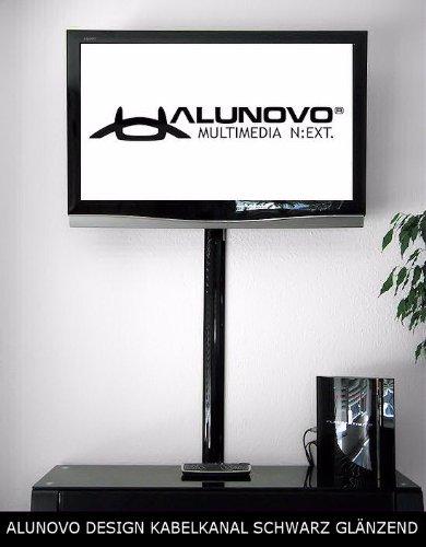 TV Design Aluminium Kabelkanal in schwarzmatt Feinstruktur lackiert in verschiedenen Längen von ALUNOVO (Länge: 20cm) - 3