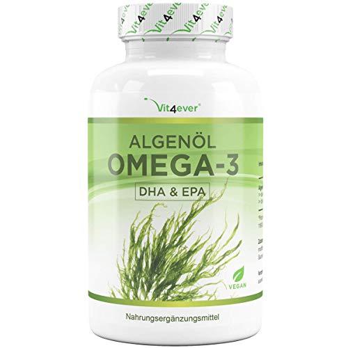 Vit4ever® Algenöl Omega 3 Vegan - 90 Kapseln - Einführungspreis - 1500 mg pro Tagesportion (davon 675 mg DHA & 240 mg EPA) - 100{f1c788e143fd3ff3a4ba3cda75b3d471c38dc4ab1fe8248214ad3e16ca690e3b} pflanzliches Öl aus Algen - Laborgeprüft - Hochdosiert
