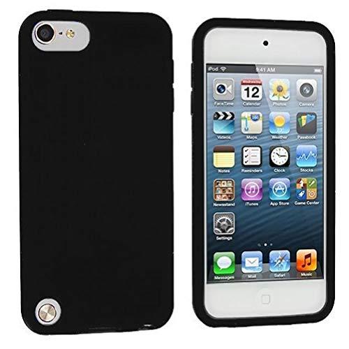 Zonster Schwarze Silikon-Gummi-Gel-weiche Haut-Kasten-Abdeckung für Apple iPod Touch der 5. Generation 5G 5 (Apple Ipod Fall Der 5. Generation)