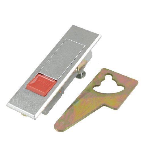 rechteckig 8,1cm Lange Metall Flugzeug Type Red Push Button Kabinett Lock