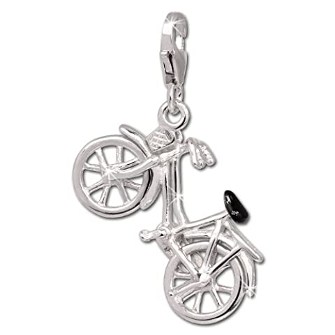 SilberDream Charm Fahrrad 925 Sterling Silber Charms Anhänger für Armband Kette Ohrring FC690