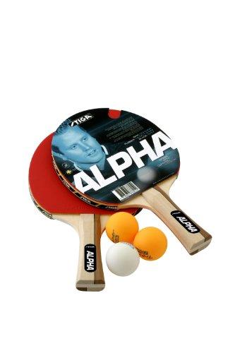 SET STIGA ALPHA 2 RACCHETTE + 3 PALLINE TENNIS TAVOLO PING PONG COD. 2C4-530