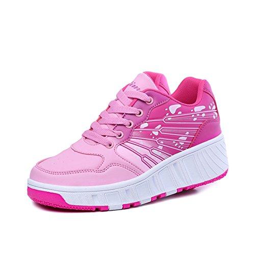 iBaste-ventilacin-Zapatos-de-moda-caminar-rpido-con-ruedas-automtico-nios-Patines