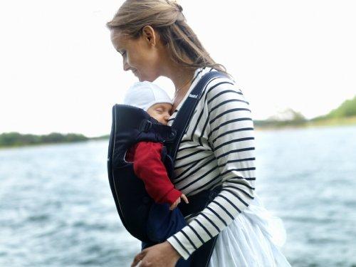 BABYBJÖRN Babytrage Original (Dunkelblau, Baumwolle)