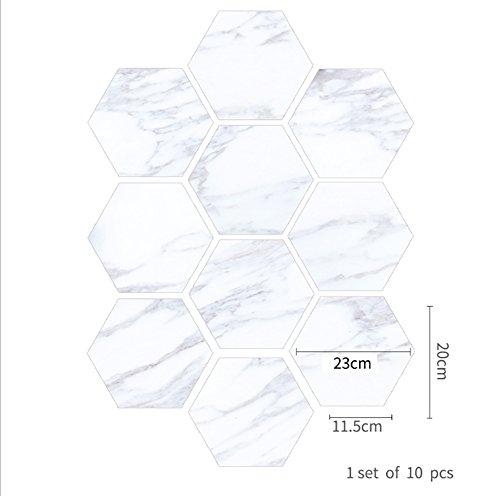 Porzellan-fliesen-böden (BKPH Blaue und weiße Porzellan Marmor Fliesen Boden Badezimmer Badezimmer Wasserdichte Wandaufkleber, C)