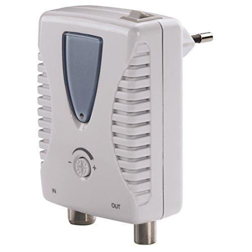 Hama 00123394 TV-Signalverstärker (Koaxialkabel, weiß/grau)