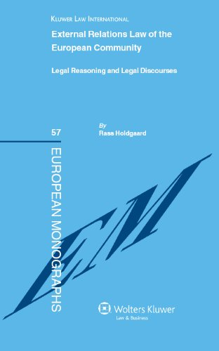 External Relations Law of the European Community: Legal Reasoning and Legal Discourses (European Monograhs)