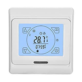 Underfloor Heating Touch Screen Digital Programmable Electric Thermostat with Air and Floor Sensor