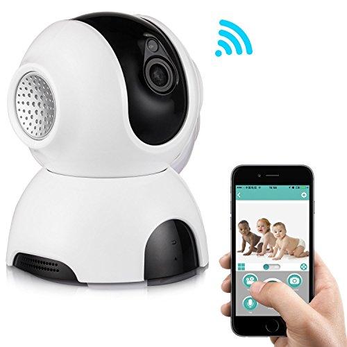 Rukerway wireless ip camera, baby monitor con sistema audio bidirezionale, visione notturna a 720p, allarme su rivelazione di movimento telecamera di