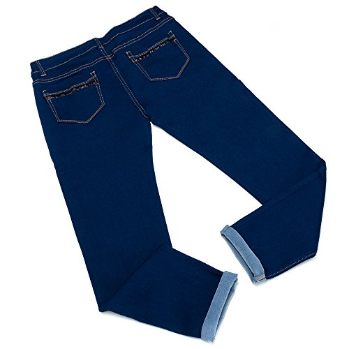 Plus Size Skinny Jeans Für Damen bei Ital-Design Blau