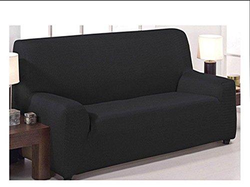 Funda de sofá elástica ajustable modelo mónaco de 4 plazas (240x270 cm)...