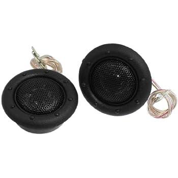 Sourcingmap Pair 55mm Diameter Black Magent Speaker Dome Auto Car Audio Tweeters