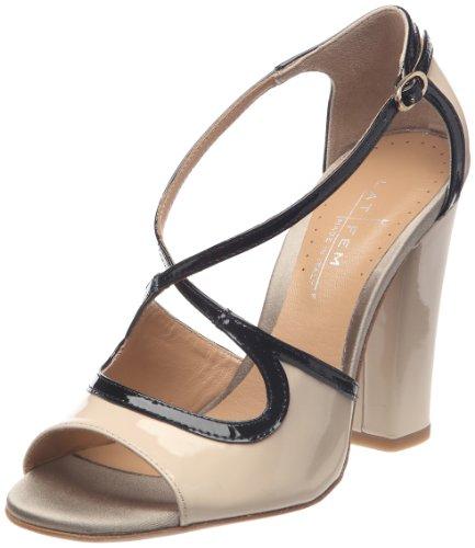 Latitude Femme29006 - Scarpe con Tacco Donna , beige (Beige/noir (Vernice - beige)), 39,5 EU
