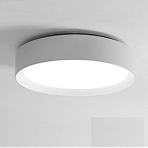 Ooccasion Led Luce Di Soffitto Circolare Luminosa Camera Da Letto Moderno Minimalista Sala Studio Luce (Peltro Spazzolato Due Luce)