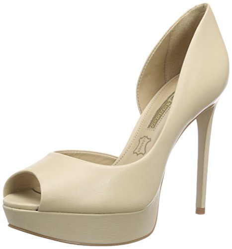 Buffalo London ZS 4976-15 NAPPA, Damen Peep-Toe Pumps, Beige (NUDE 34), 38 EU