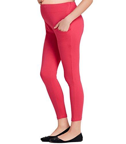 Liang Rou Damen Lange Umstands-Leggings Mini-gerippt Elastisch Figurformend (Gerippte Stretch-leggings)