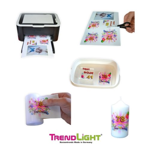 TrendLight 861131 Fototransferpapier A4 210 x 297 mm 1 Blatt für Kerzen