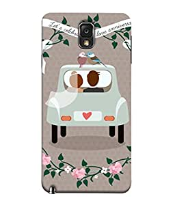 PrintVisa Designer Back Case Cover for Samsung Galaxy Note 3 :: Samsung Galaxy Note Iii :: Samsung Galaxy Note 3 N9002 :: Samsung Galaxy Note 3 N9000 N9005 (Love Lovely Attitude Men Man Manly)