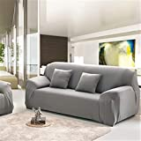 Ledersofas Sets All-Inclusive Universal Abdeckung Handtuch Europäischen Sommer Stoff Sofakissen Sofa Cover Duo Full Cover 1 Stücke Gray Single seat Sofa
