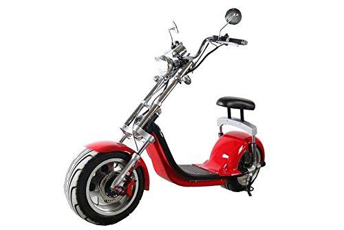 Scooter eléctrico Aleación de aluminio Hub motocicleta Scooter 1000W 60V 12/20Ah rojo, rojo
