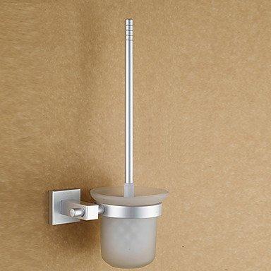 Miaoge® contemporaine anodisation finition Aluminium porte Toiletbrush avec brosse WC