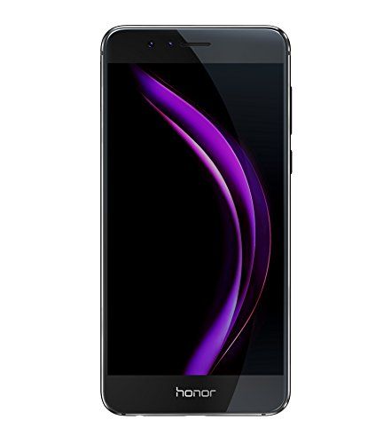 "Honor 8 4G LTE Smartphone, 5.2 Display ""IPS LCD, Octa-Core HiSilicon Kirin 950, 32 GB, 4 GB RAM, Dual 12 MP Camera, Black"
