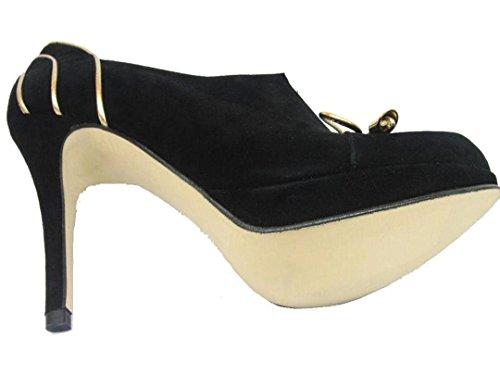 Gennia CLOSE - Escarpins noir-or