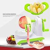 TKFY Multifunktionsschäler handkranker Apfelschäler halbautomatische Fruchtschneidemaschine Vegetable Peeler Household Küchen-Fruchtschneidewerkzeug Green Portable Gürtel 180.3×120×150mm