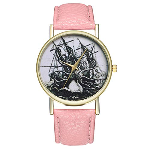 Damen Armbanduhr Analog Quarz Rosa