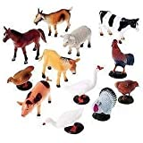 Babytintin™ FARM Animals Figures Set For Kids/Young Ones Pack Of 12 Animals (Big Size) (Multi Colour, Animals May Vary Pack To Pack)