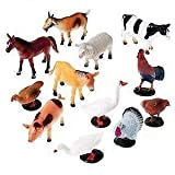 #8: Babytintin™ FARM Animals Figures Set For Kids/Young Ones Pack Of 12 Animals (Big Size) (Multi Colour, Animals May Vary Pack To Pack)