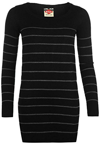 Lee Cooper -  Maglione  - Donna Black/Charcoal 44