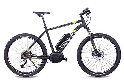 CHRISSON 27,5 Zoll E-Bike Mountainbike Pedelec Elektrofahrrad E-Mounter 1.0 Bosch PLINE & ACERA 3000 schwarz