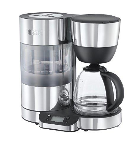 Russell Hobbs Digitale Glas-Kaffeemaschine Clarity, integrierter BRITA Wasserfilter, 1.25l, 950 Watt, 20770-56, Edelstahl/schwarz