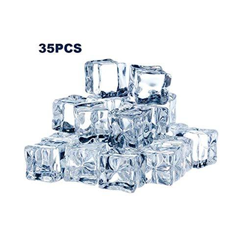 TonJin 35PCS Cubos Hielo Artificiales Cubo Hielo Cuadrado