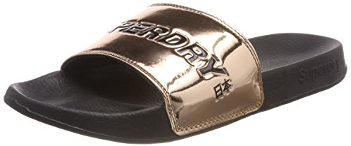 Superdry City Slide, Tongs Femme Rosa (Rose Gold)
