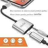 3,5mm Klinkenstecker Kopfhörer Adapter für iPhone X 8/8 Plus 7/7Plus Connector AUX Konverter Kopfhörer Klinke Adapter Zubehör.Kopfhörer Adaptor Audio Charge Adapter,Anschluss-Kabel Splitter