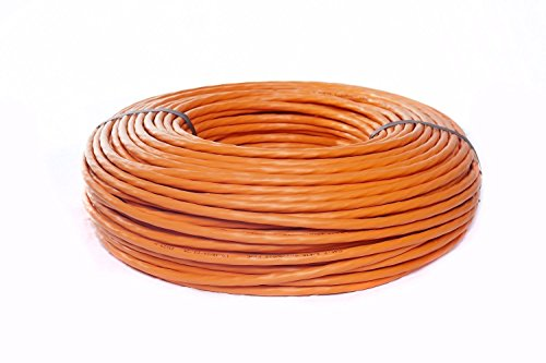 BIGtec 50m CAT7A Netzwerkkabel 1500Mhz Verlegekabel Datenkabel Installationskabel 10 Gigabit Ethernet LAN Kabel CAT7 orange doppelt geschirmt SFTP AWG23 LSHF FRNC Kabel halogenfrei flammwidrig