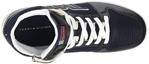 Tommy Hilfiger Jungen B3285asket 3s High-Top Mehrfarbig (MIDNIGHT/WHITE 403)