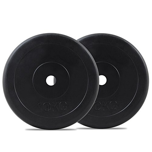 Bodymax Standard Rubber Weight Disc Plates - 2 x 10kg