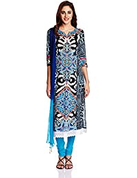 Rain And Rainbow Women's Anarkali Salwar Suit - B013341JX6