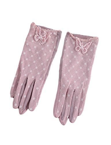 WYSTAO Sonnencreme Handschuhe weibliche Rutschfeste Touchscreen ultradünne EIS Seide atmungsaktiv Fahren Hochzeit Hochzeit Party Party sexy romantischen Frühling und Sommer UV-Schutzhandschuhe