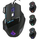 MRULIC Neue 5500 DPI 7 Knopf LED Optische USB Wired Gaming Maus Mäuse Für Pro Gamer Cool