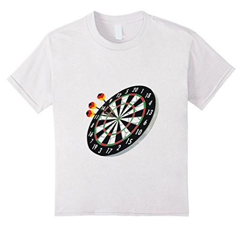 Dartboard T-Shirt Throwing the Darts Getting a Bullseye Kinder, Größe 116 Weiß