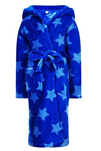 dazzling-childrens-kids-boys-girls-corel-fleece-star-print-hooded-robe-dressing-gown-blue-7-8