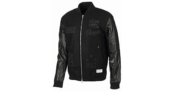 adidas Originals Run DMC Herren Bomber Jacket Lederjacke
